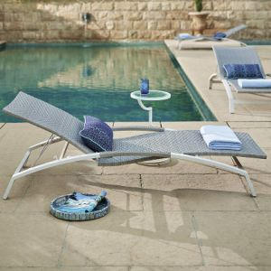 Well Furnir Usage Confortable Design Chaise Lounges with Parasol pictures & photos