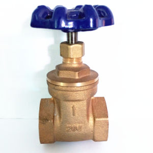 C83600 Bronze Gate Valve with Steel Handle