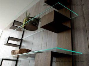 6 - 12 mm Float Home Furniture Corner Tempered Glass Shelving /Decoration Glass pictures & photos