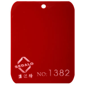 Red Cast Acrylic Sheet (SDL-1382) pictures & photos