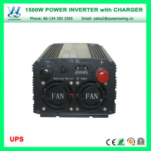 1500W DC12V/24V AC110V/220V UPS Charger Power Inverter Inversor Cargador (QW-M1500UPS) pictures & photos
