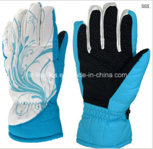 Ladies Printing Popular Sports Gloves for Winter 2015