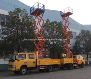 8-10m Double Cab Field Aerial Outdoor Working Truck pictures & photos