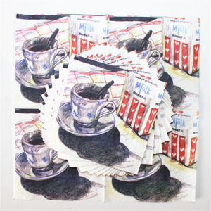 Disposable Party Paper Napkin with Color Printed pictures & photos