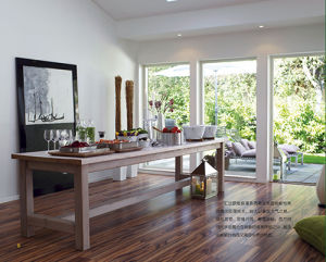 Mirror Surface High Quality HDF Laminate Floor pictures & photos