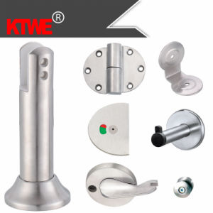 Canton Fair Exhibition Stainless Steel Toilet Partition Support Hinge Clip Hock Lock (KTW08-001)