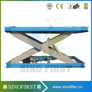 1000kg Custom Stationary Hydraulic Rotary Scissor Lift pictures & photos