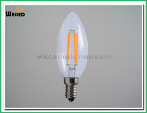 2W 4W 6W Tailed LED Candle Light C35 E14 B22 with 4PCS Filaments Light for Decorative Chandelier pictures & photos
