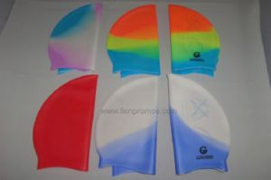 Children Colorful Silicone Swim Hat pictures & photos