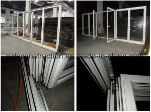 2013 New Design 60series Aluminium Thermal Break Folding Door 3+3 pictures & photos