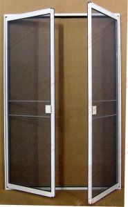 Double Leaf Aluminium Steelwire Net Screen Door (BHN-CD03) pictures & photos