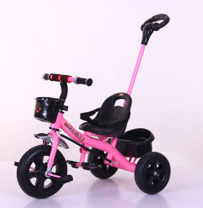 Baby Stroller Tricycle 2 in 1 Kids Ride on Toys with Ce pictures & photos