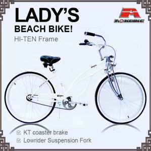 Lowrider Spring Fork Coaster Brake Beach Cruiser Bicycle for Lady (ARS-2687S) pictures & photos