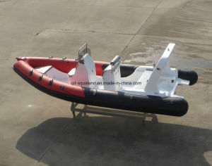China Aqualand 20feet 6.2m Fiberglass Rigid Inflatable Boat/Rib Fishing Boat/Motor Boat/Rescue/Patrol (rib620d) pictures & photos