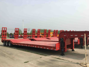 3line 6axle Low Bed Semi Trailer pictures & photos