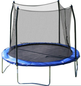 10FT Outdoor Sport Fitness Trampoline with Safety Enclosure pictures & photos