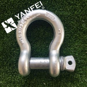 Hot DIP Galvanized G2130 Bow Shackle with Safety Pin pictures & photos