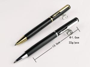 Smooth Writing Metal Slogan Ball Pen with Laser or Print Logo