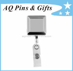 Badge Reel with Square Shape in Nickel Plating pictures & photos