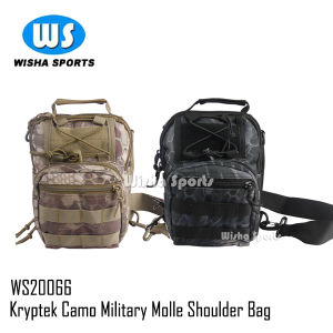 Military Tactical Utility Gear Shoulder Sling Bag in Kryptek Camo
