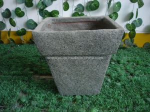 High Quality Decoration Fiberglass Flower Pot / Fiber Stone Planter pictures & photos