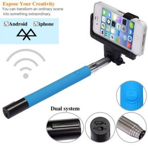 china kjstar z07 5 bluetooth monopod selfie stick mobile phone monopod chin. Black Bedroom Furniture Sets. Home Design Ideas