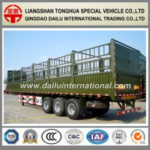 3 Axles Straight Beam Stake/Fence Semi Trailer with Two-Tier Fence pictures & photos