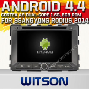 Witson Android 4.4 Car DVD for Ssangyong Rodius 2014 with A9 Chipset 1080P 8g ROM WiFi 3G Internet DVR Support pictures & photos