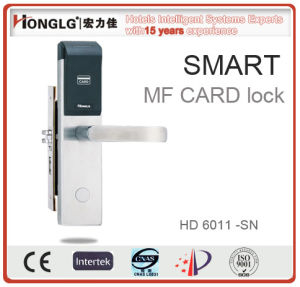 Top 304 Stainless Steel Hotel Key Card Lock (HD6011) pictures & photos