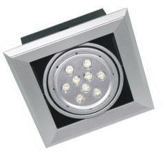 LED Bean Container Lamp Diclinic Silvery Grey Thickened Singlehead (9*1W lampwick) 3000k \6500k