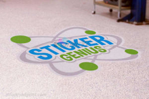 Custom Cheap Waterproof Removable Self Adhesive Advertising Floor Sticker pictures & photos