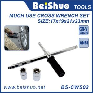 Multi-Function Anti-Slip Lug Wrench, Much Use Cross Wrench Set pictures & photos