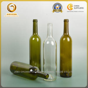 Super Quality 750ml Bordeaux Glass Bottle with Wood Cork Top (349) pictures & photos