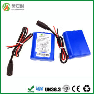 12V 2600mAh Pack with Hsanyo Li Ion Battery