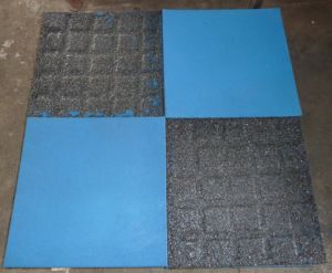 Crossfit Resilient Rubber Flooring Shockproofing Gym Tiles pictures & photos