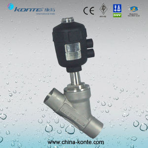 Welded Pneumatic Angle Seat Valve, Pneumatic Angle Piston Valve pictures & photos