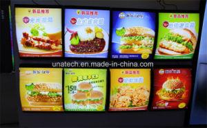 LED Menu Board Advertising Indoor Fast Food Restaurant Media Signage Arc Curve Light Box pictures & photos