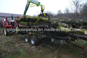 Hot Selling 3ton Timber Crane with Trailer pictures & photos