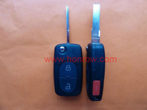 2+1 Button Remote Key Blank with Panic Audi