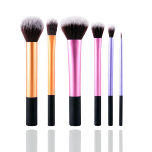 6 PCS Professional Synthetic Foundation Makeup Brush Set Factory Wholesale pictures & photos