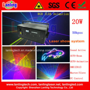 20W 50kpss DMX Disco Light for Laser Show pictures & photos