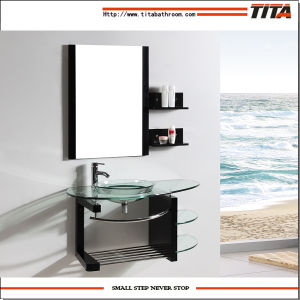 Vanity Sink/Glass Bathroom Vanity/Bathroom Vanity Black Basin (TB003) pictures & photos