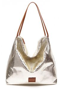 Gold Color Super Big Volume Snake Skin Patten Shopping Handbags Leisure Bags (LDO-16095) pictures & photos