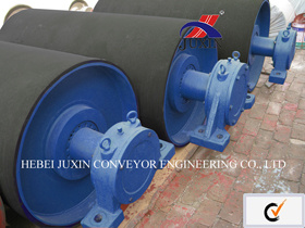 Belt Conveyor Pulley Drum with Rubber for Cement Mining pictures & photos