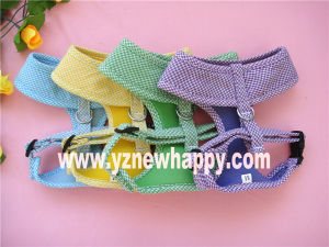 Pet Harness/Dog Harness with Check Fabric (H5122-58)