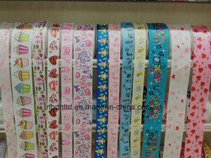 Decorative Ribbon Colorful Printed Satin Ribbon and Grosgrain Ribbon