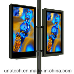 Street Lamp Lighting Pole Column Pillar Advertising Outdoor LED Backlit Banner PVC Film Flex Light Box pictures & photos
