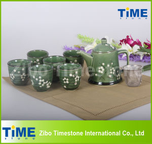 9PCS Ceramic Vintage Tea Set Made in China pictures & photos
