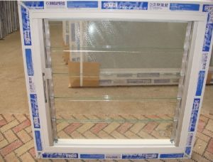 PVC Glass Shutter Window pictures & photos