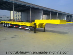 Sinotruk Huawin 3-Axle Truck Trailer / Low Bed Semi Trailer pictures & photos